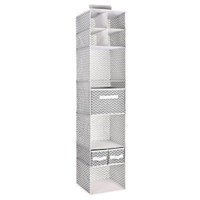 Shelf with 3 Foldable Drawers Nursery Closet Organizer