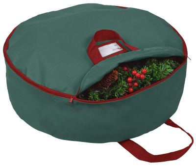 "Primode Xmas Wreath Storage Bag 24"" with Handles"