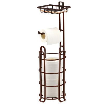 TomCare Toilet Paper Holder Toilet Paper Stand 4 Raised Feet Bathroom