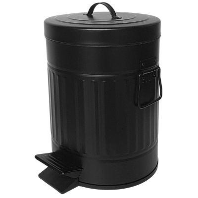Autumn Alley Black Bathroom Trash Can with Lid