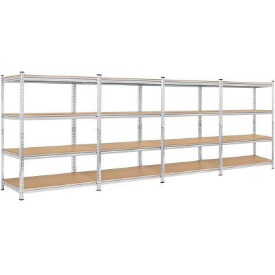 Yaheetech 4-Shelf Heavy Duty Shelving Garage
