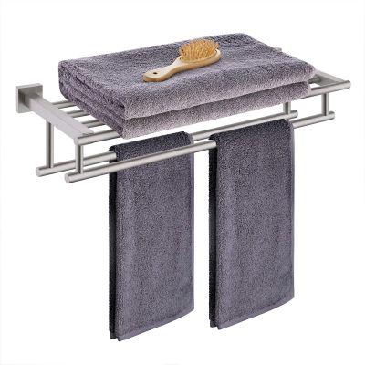 KES Bathroom Hotel Bath Towel Rack with Double Towel Bar