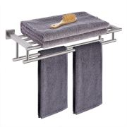 KES Bathroom Hotel Bath Towel Rack with Double Towel Bar