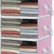 Simple Houseware 3 Pack Foldable Closet Organizer