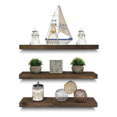 Rustic Farmhouse 3 Tier Floating Wood Shelf