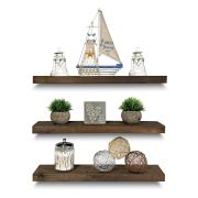 Rustic Farmhouse 3 Tier Floating Wood Shelf
