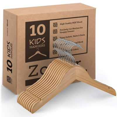 High-Grade Wooden Childrens/Kids Hangers (10 Pack)