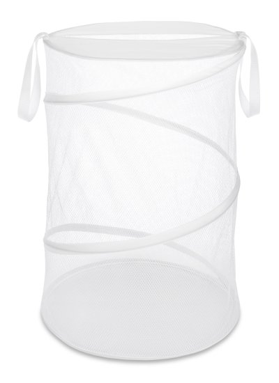 """Collapsible Laundry Hamper White 18"""""""