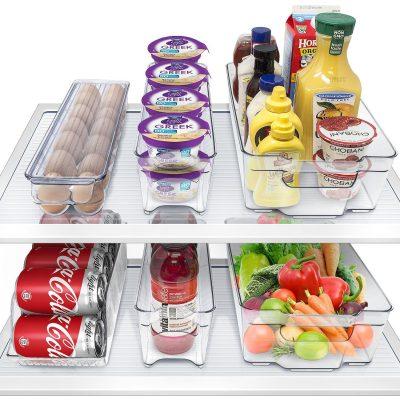 Sorbus Fridge Bins and Freezer Bins Refrigerator