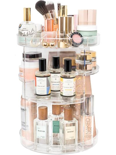 Spinning Storage for Skincare Makeup Organizer by Tranquil Abode