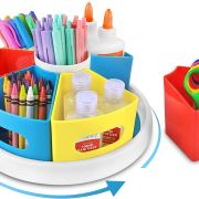 360° Rotating Art Supply Organizer for Kids