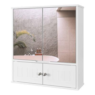 Medicine Cabinet with Doors and Adjustable Shelf