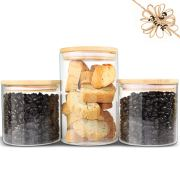 Glass Jars with Bamboo Lids Urban Green