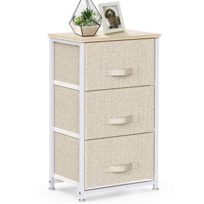 3 Drawer Fabric Dresser Storage Tower, Dresser Chest