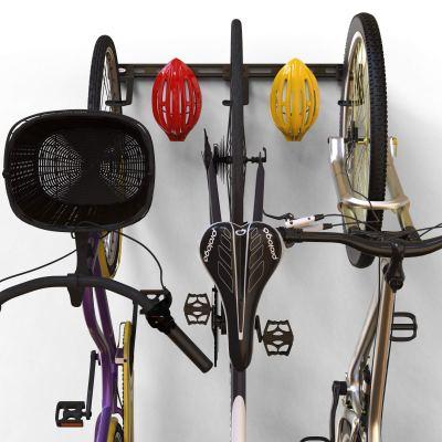 Koova Wall Mount Bike Storage Rack Garage Hanger for 3 Bicycles