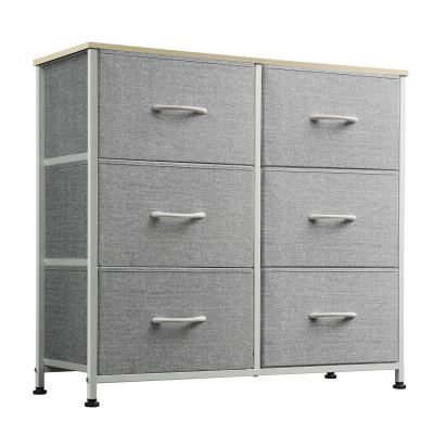 WLIVE Dresser with 6 Fabric Drawers, Storage Tower