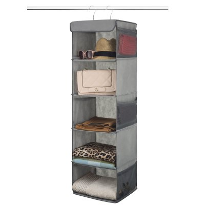Zober 5 Shelf Hanging Closet Organizer Space Saver