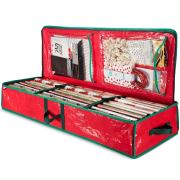 ZOBER PE Underbed Gift Wrap Organizer, Interior Pockets