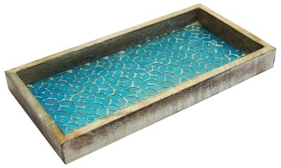 Holder for Guest Hand Towel Mosaic Tray for Luxurious Bath countertop