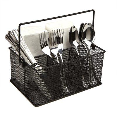 Basket Organizer, Utensil Holder, Forks, Spoons, Knives
