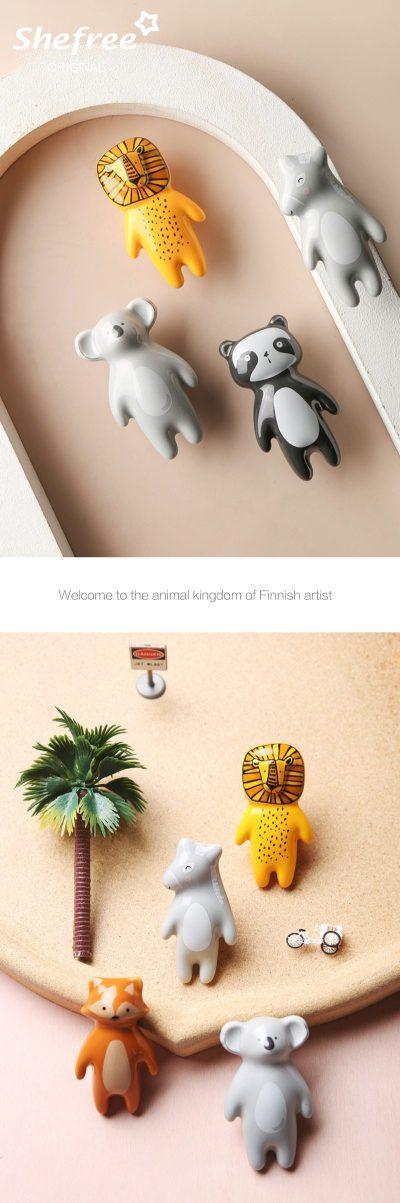 Ceramic Furniture Wall Hook Nordic Animal Hooks