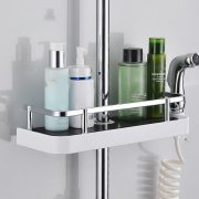 Shower Storage Rack No Drilling Lavatory Organizer