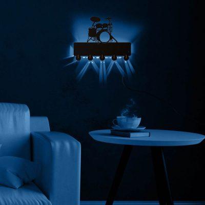 LED Wall Hook Drum Kit Multi-color