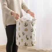 Foldable Laundry Basket Round Storage Bin Large