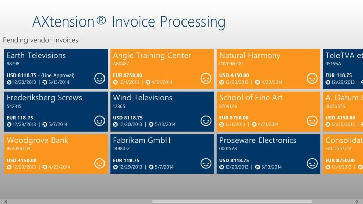 Screenshot list all pending invoices that are assigned to you in the