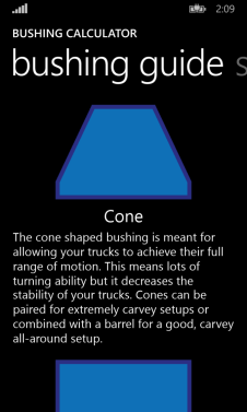 Venom Bushing Chart