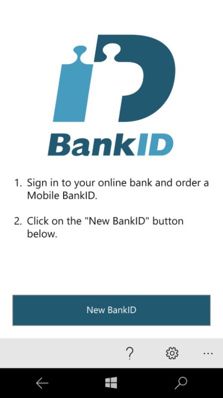 Scandinavian Banking App Bankid For Windows 10 Mobile