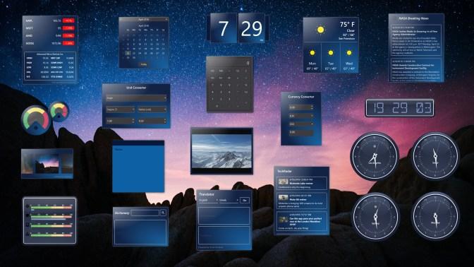 get widgets hd microsoft