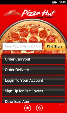 get pizza hut microsoft