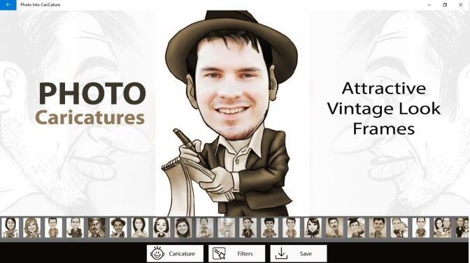 get photo into caricature
