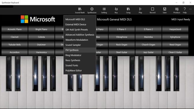 get synthesizer keyboard microsoft