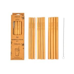 Box Kit 12 straws - Bamboo MOVE