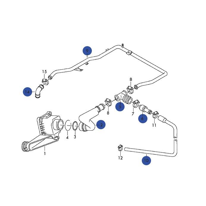 Breather Hose Kit, B5 Audi A4 & Volkswagen Passat 1.8T