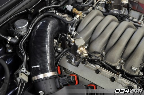 small resolution of  b8 audi s5 4 2l fsi v8 engine bay with 034motorsport performance throttle body hose