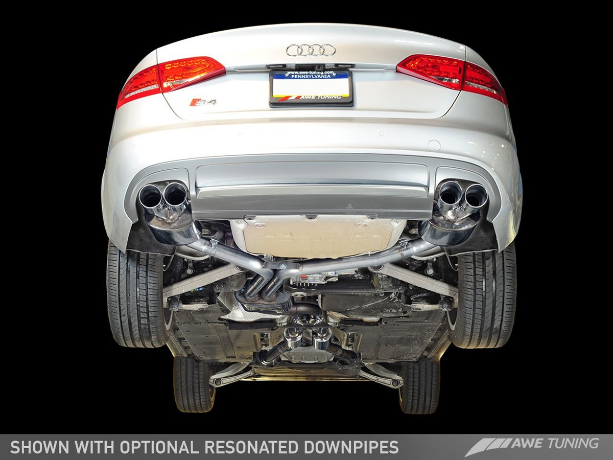 audi a4 exhaust system diagram gibson 3 pickup wiring awe tuning b8 5 s4 touring edition cat back