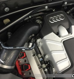 performance air intake hose installed on audi q5 sq5 3 0 tfsi 034 112 silicone throttle body  [ 1200 x 800 Pixel ]