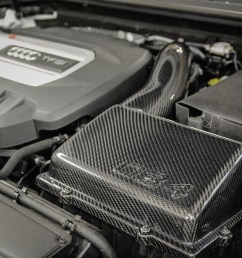 carbon fiber mk7 volkswagen golf gti r cold air intake system installed 034  [ 1800 x 1200 Pixel ]