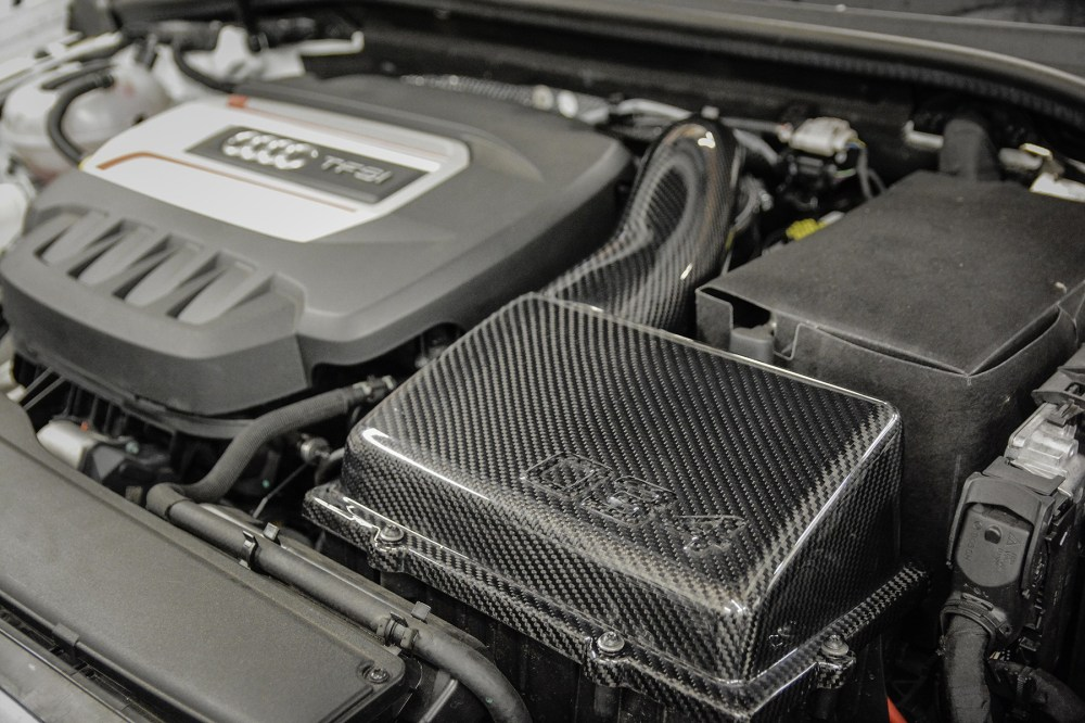 medium resolution of  carbon fiber mk7 volkswagen golf gti r cold air intake system installed 034