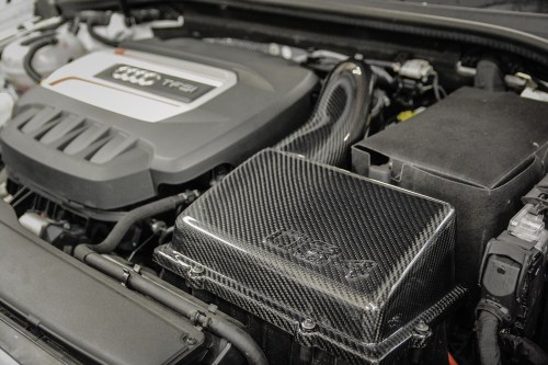 small resolution of  carbon fiber mk7 volkswagen golf gti r cold air intake system installed 034