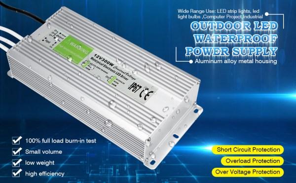 Waterproof IP67 Power Supply 12V Transformer Adapter 07