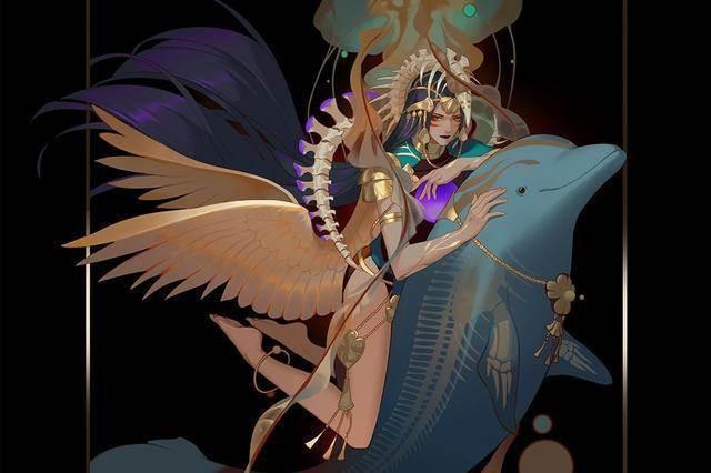 靈魂畫師筆下的八大行星擬人化,金星霸氣十足,水星美顏妖嬈