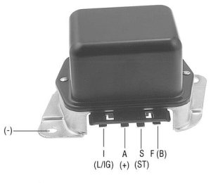 Part # 352001  Voltage Regulator 12 Volt, BCircuit, Negative Ground For Ford 1G Series