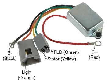 nippondenso alternator wiring diagram directv swm 8 # d7014 - conversion regulator for delco-remy 10dn series external regulated alternators 12 volt ...