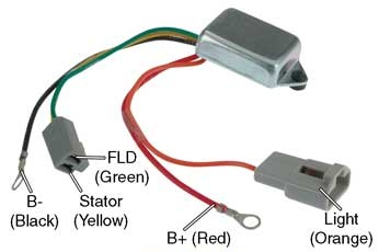 one wire alternator wiring diagram ford taotao 50cc scooter ignition # d7016 - voltage regulator, 10dn series alternators, 12v to 24v conversion, one-wire (self ...
