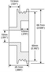 15mm Bore Alternator Pulleys