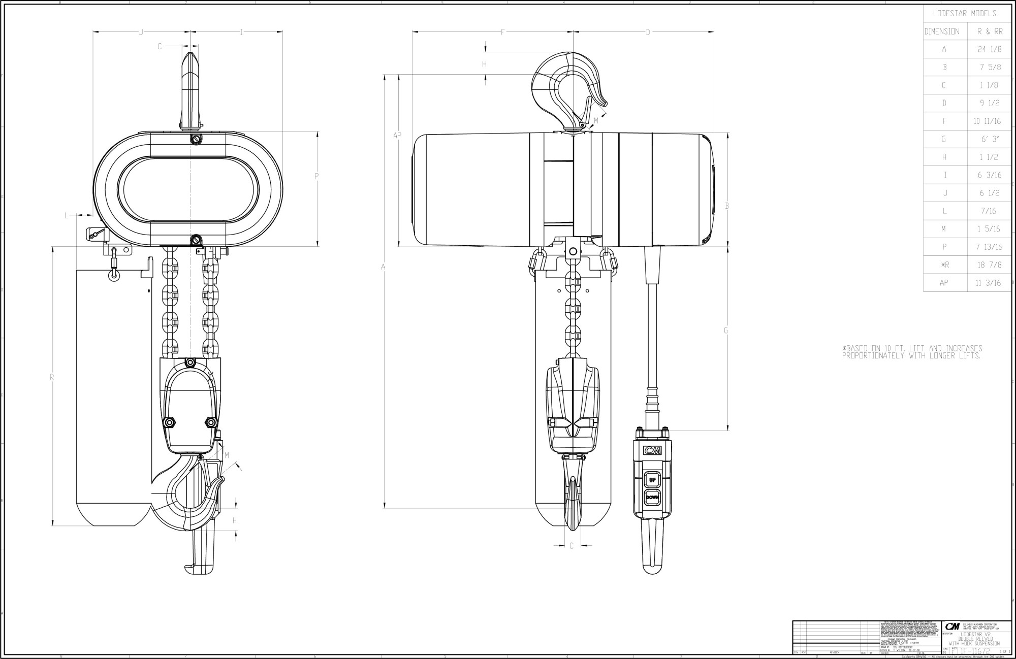 hight resolution of  wiring diagram on cm lodestar product code 3507 cm lodestar electric chain hoist